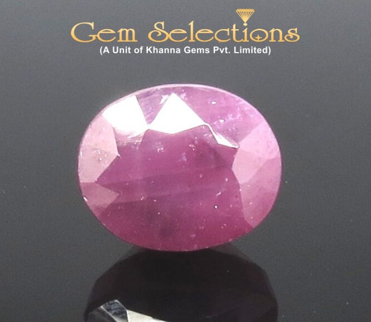 6.59 Ratti Natural Indian Ruby with Govt. Lab Certificate-(1221)