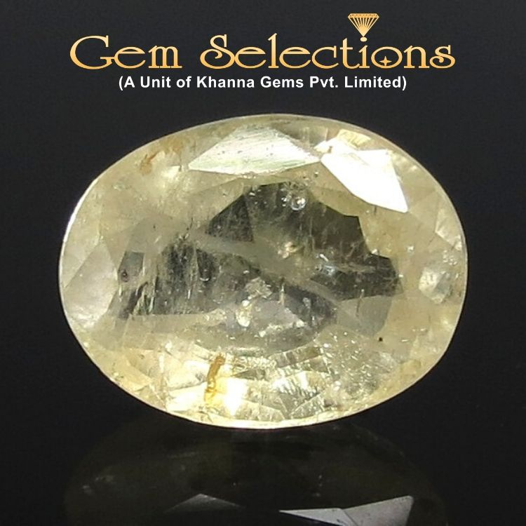 4.38 Ratti Natural Yellow Sapphire with Govt Lab Certificate-(12210)