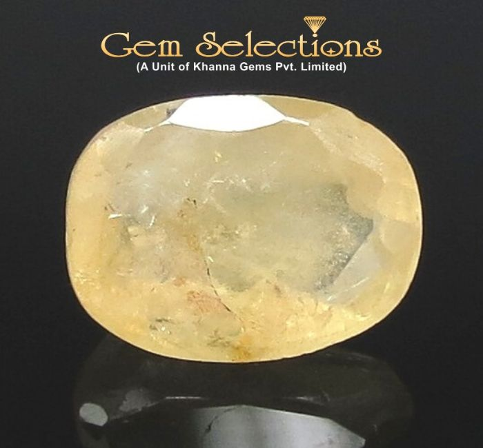 4.31 Ratti Natural Yellow Sapphire with Govt Lab Certificate-(6771)