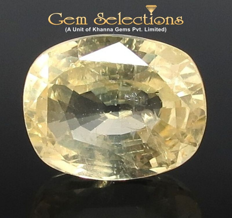 11.58 Ratti Natural Yellow Sapphire with Govt Lab Certificate-(56650)