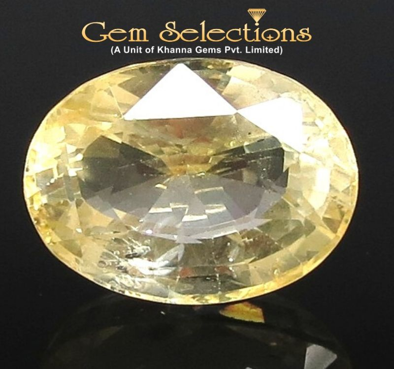 11.41 Ratti Natural Yellow Sapphire with Govt Lab Certificate-(56650)