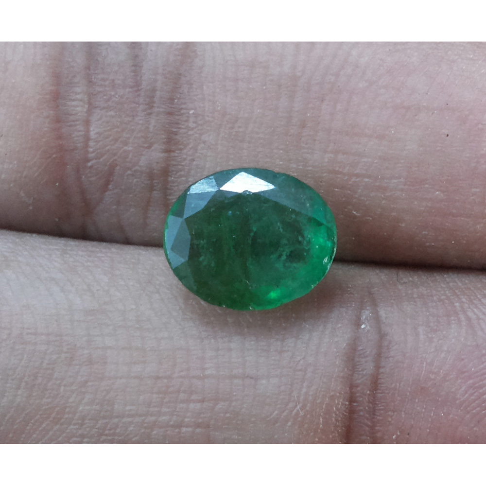 11.64 Ratti Natural Panna Stone with Govt. Lab Certified-(5661)