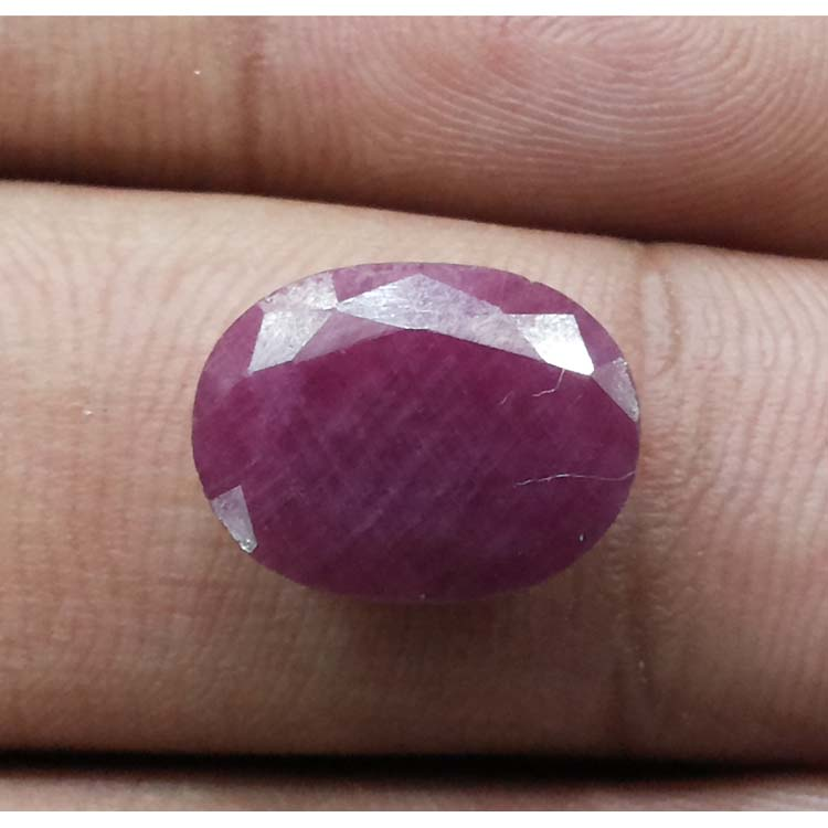 8.40 Ratti Natural Indian Ruby with Govt. Lab Certificate-(1100)
