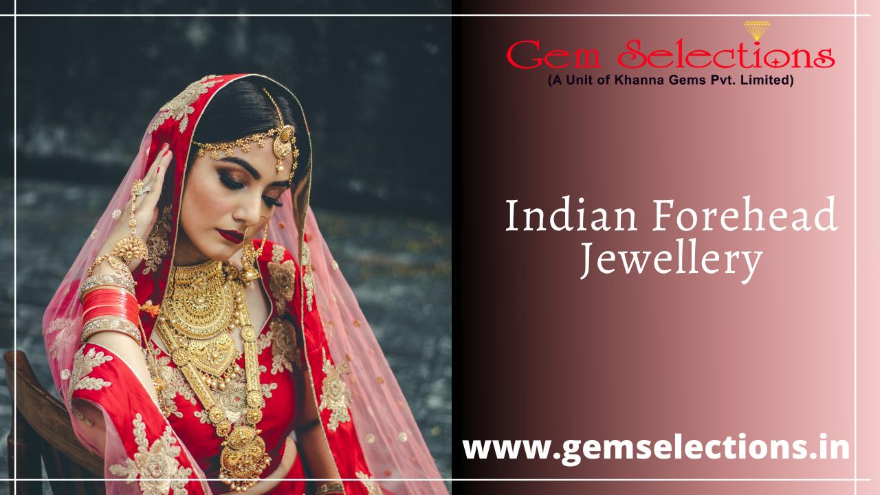 Indian forehead jewellery