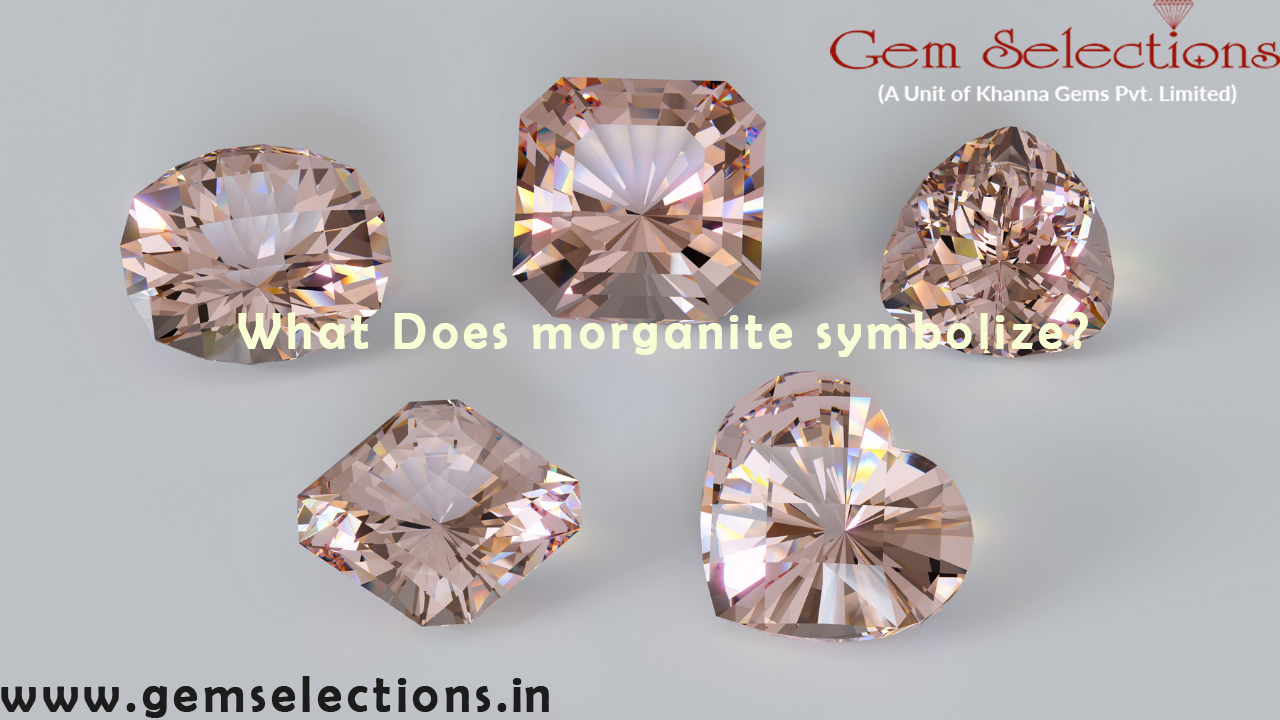 What does morganite symbolize?