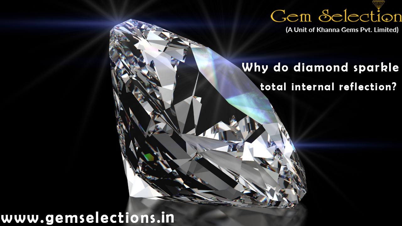 Why do diamonds sparkle total internal reflection