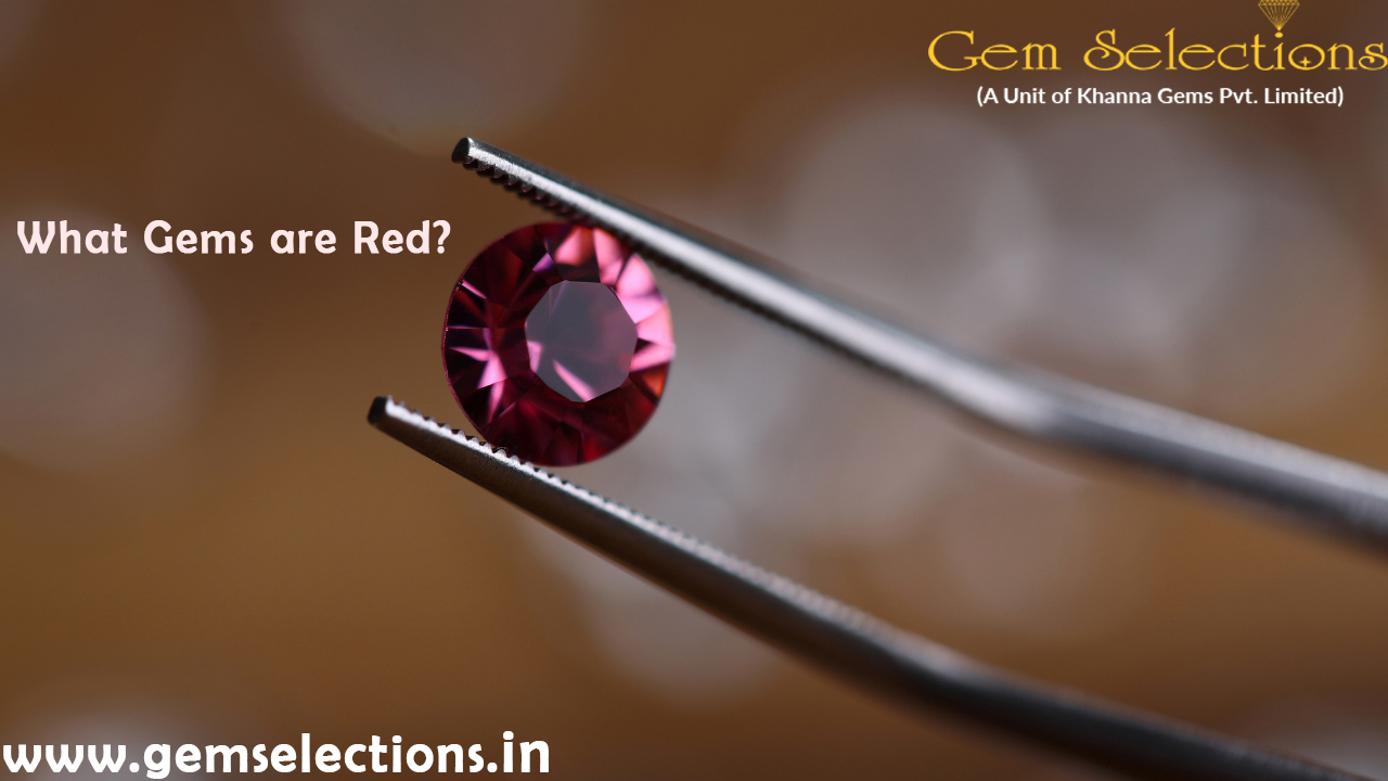 What gems are red