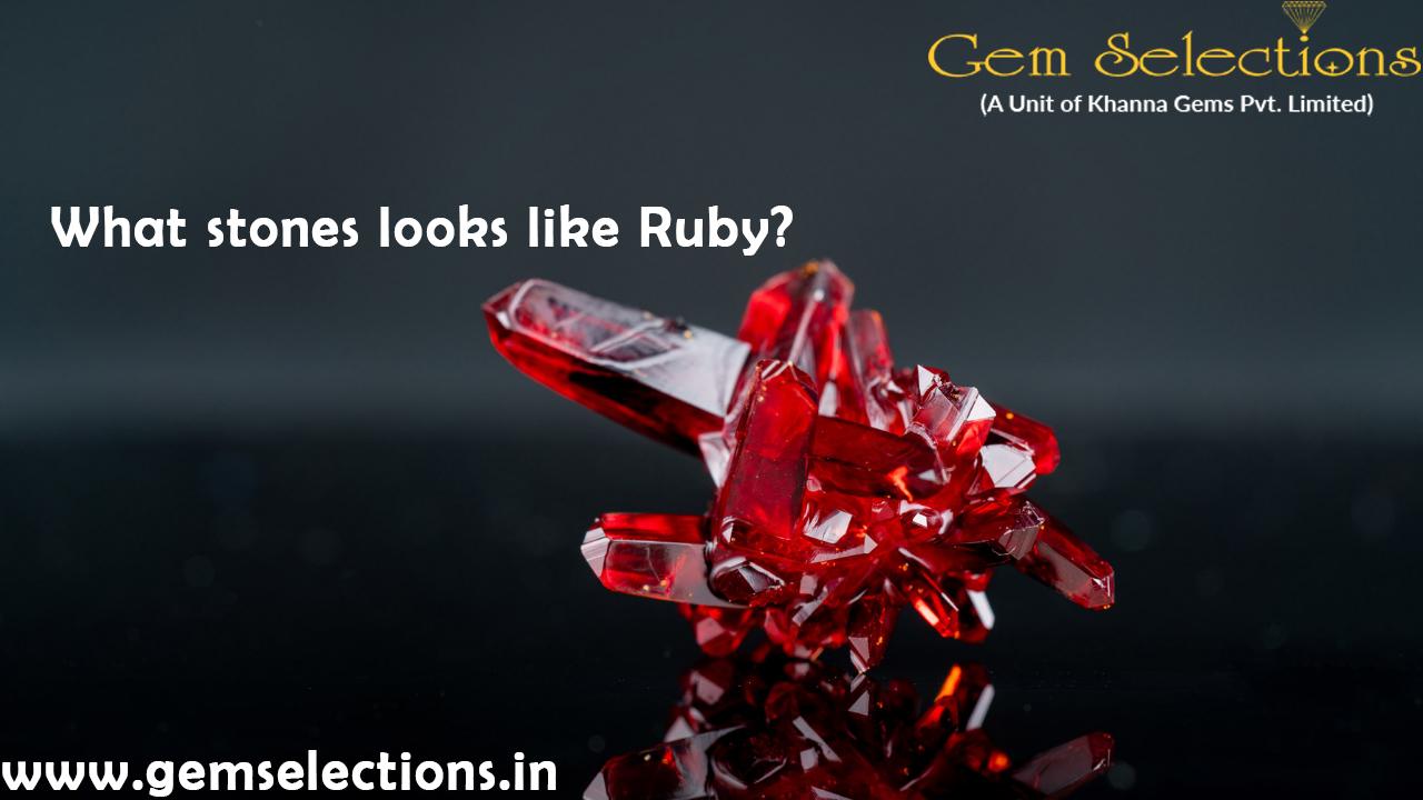 Stones that look like ruby
