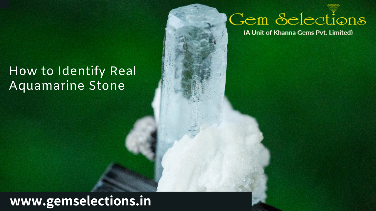 How to identify real aquamarine stones?