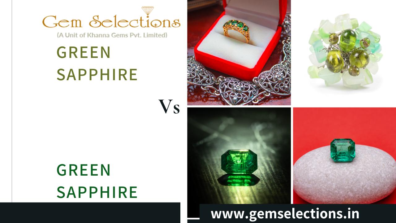 Green Sapphire Vs Emerald