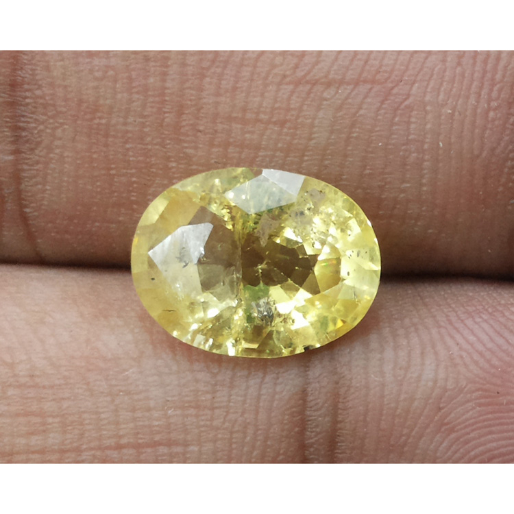 5.49 Ratti Natural yellow sapphire with Govt Lab Certificate-(15000)