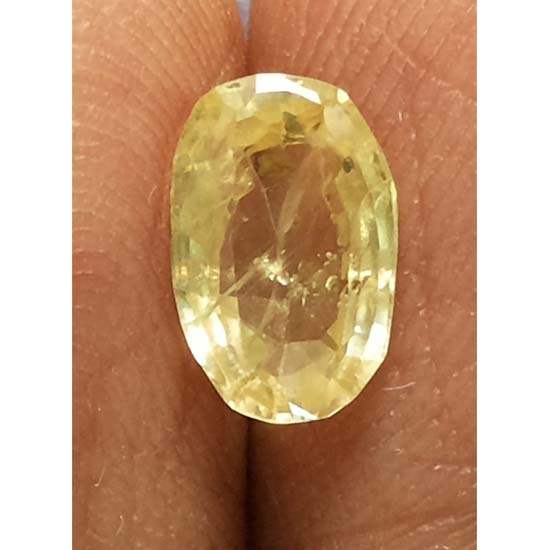 1.46 Ratti  yellow sapphire with Govt Lab Certificate-(8100)